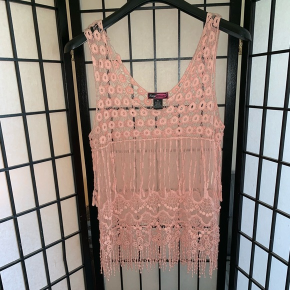 Say What? Tops - Cute pink tank